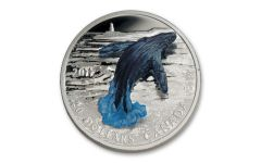 2017 Canada $20 One-Ounce Silver 3D Breaching Whale Colorized Gem Proof