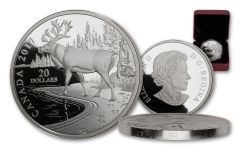2017 Canada $20 One-Ounce Silver Nature's Impression Woodland Caribou Proof