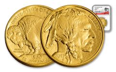 2017 50 Dollar 1-oz Gold Buffalo NGC MS70 225th Anniversary