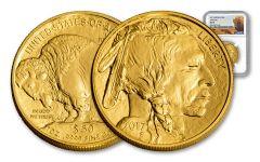 2017 50 Dollar 1-oz Gold Buffalo NGC MS70 Buffalo
