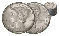 1942 Mercury Dime BU 20-Coin Roll