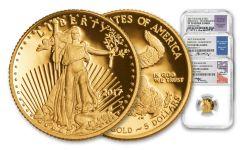 2017-W 5 Dollar 1/10-oz Gold Eagle NGC PF70UCAM FDI Jones Mercanti Moy Signed 3pc Set