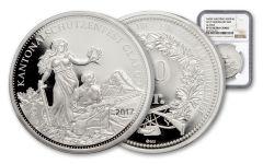 2017 Switzerland 50 Francs Silver Shooting Thaler NGC PF70UCAM