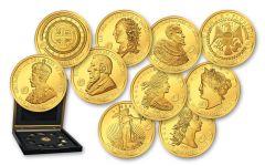 Solomon Islands 1/2 Gram Gold Valuable 10 Proof-Like Set