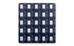 PAMP Suisse 1 Gram Platinum Fortuna Bar 25-Piece Sheet