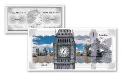 2017 Cook Islands 1 Dollar 5-gram Silver London Skyline Dollar Proof-Like