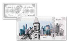 Cook Island 5g Silver Toronto Skyline Dollar Proof-Like