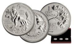 2017 Canada Silver Forgotten 1927 Designs 3-Coin Proof Set