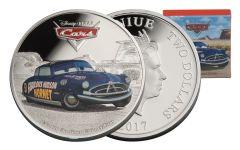 2017 Niue 2 Dollar 1-oz Silver Cars Doc Hudson Proof