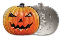 2017 Cook Islands 5 Dollar 1-oz Silver Jack O Lantern High Relief Proof