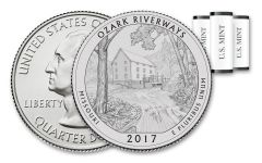 2017 America the Beautiful Ozark National Scenic Riverways Quarters 3 Roll Set