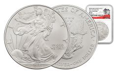 2017-W 1 Dollar 1-oz Burnished Silver Eagle NGC MS69 Early Release 225th Anniversary