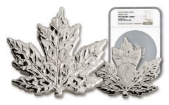 2015 Canada $20 One-Ounce Silver Cut-Out Maple Leaf NGC PF69UC