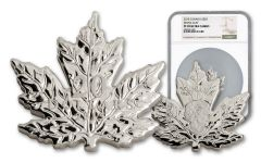 2015 Canada $20 One-Ounce Silver Cut-Out Maple Leaf NGC PF70UC