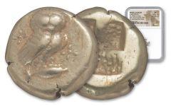 450-330 BC Greek Electrum Hekte Kyzikos Owl NGC XF