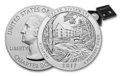 2017-P 25 Cent 5-oz Silver America the Beautiful Ozark National Scenic Riverways Specimen