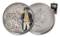 2017 Niue 1-oz 2 Dollar Silver Battle of Yorktown Antique