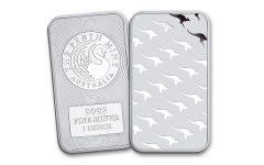 Australia 1-oz Silver Perth Mint Kangaroo Bar