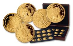 Smithsonian American Gold Classics Series Gold-Layered 24pc Set NGC Gem Proof