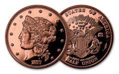 1877 Smithsonian 50 Dollar 1-oz Copper Half Union Proof