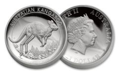 2017 Australia 1 Dollar 1-oz Silver Kangaroo High Relief Proof