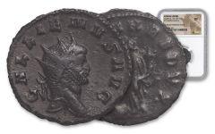 253-268 AD Roman Bronze South Petherton Hoard Gallienus NGC XF
