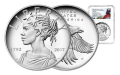 2017-P 1-oz Silver American Liberty Medal NGC PF69UCAM Flag