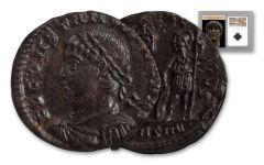 Ancient Roman Bronze Constans NGC MS