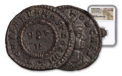 Ancient Roman Bronze Crispus NGC CH AU
