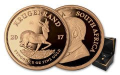 2017 South Africa 5-oz Gold Krugerrand NGC PF69UCAM