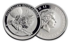 2018 Australia 1 Dollar 1-oz Silver Kookaburra BU
