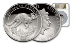 2017 Australia 5-oz Silver Kangaroo High Relief Proof NGC PF70UCAM - First Strike