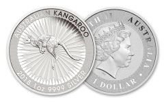 2018 Australia 1 Dollar 1-oz Silver Kangaroo Brilliant Uncirculated