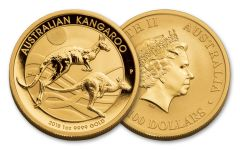 2018 Australia 100 Dollar 1-oz Gold Kangaroo Brilliant Uncirculated