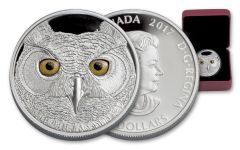 2017 Canada 15 Dollar Silver The Great Horned Owl Proof