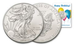2018 1 Dollar 1-oz Silver Eagle BU Birthday Balloons