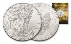 2018 1 Dollar 1-oz Silver Eagle BU Congratulations
