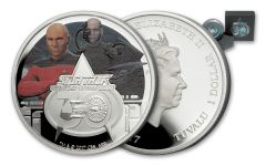 2017 Tuvalu 1-oz Silver Star Trek Next Generation 30th Anniversary