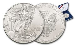 2018 1 Dollar 1-oz Silver Eagle BU in U.S Mint Presentation Box