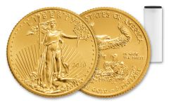 2018 5 Dollar 1/10-oz Gold Eagle Roll BU 50-Coin Roll
