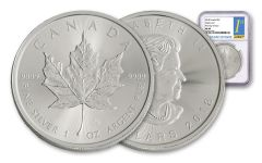 2018 Canada 1-oz Silver Maple Leaf NGC MS69 First Day Of Issue