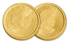2018 Canada 1/20-oz Gold Maple Leaf Brilliant Uncirculated