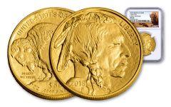 2018 50 Dollar 1-oz Gold Buffalo NGC MS69 Early Releases Buffalo Label