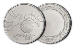 2017 1-oz Silver Peace Dove Round