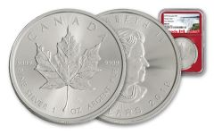 2018 Canada 1-oz Silver Maple Leaf NGC MS69- First Releases- Red Core