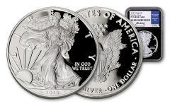 2018-W $1 Silver Eagle NGC PF70UC FDI Moy Black Core