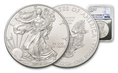 2018 1 Dollar 1-oz Silver Eagle NGC MS70 Early Releases -Silver Foil