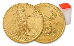 2018 50 Dollar 1-oz Gold Eagle BU 20-Coin Roll