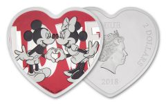 2018 Niue 2 Dollar 1-oz Silver Disney With Love Proof