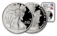 2016-W $1 1-oz Silver Eagle 30th Anniversary Congratulations Set NGC PF69UC - Mercanti Signed Label, White Core